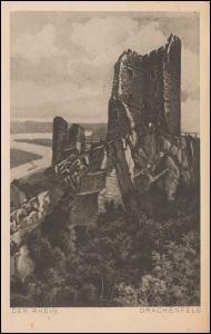 Ansichtskarte Der Rhein: Drachenfels, ROLANDSECK 28.8.1924 nach Breyell