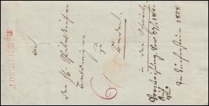 Baden Vorphilatelie Faltbrief roter Einzeiler R.2. WALDSHUT, geschrieben 15.2.28