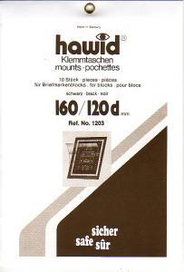 HAWID-Blockstreifen 1203, 160x120 mm, schwarz, 10er-Pack, d* doppelte Klemmnaht