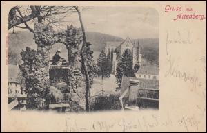 Ansichtskarte Gruss aus Altenberg / Rheinland Aussichtsturm + Kirche 31.8.1901