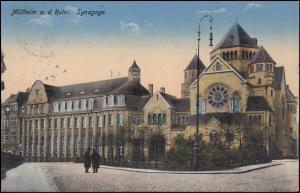 Ansichtskarte Mülheim an der Ruhr - Synagoge, 8.9.1915