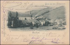 Ansichtskarte Gruss aus dem Schwazwald: Durbach, 6.2.1899 nach CÖLN 7.3.99