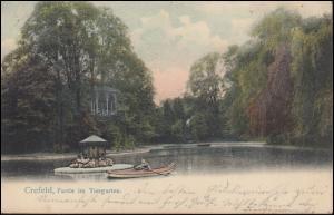 Ansichtskarte Partie im Tiergarten, CREFELD 14.7.1904 nach BREYELL 14.7.04