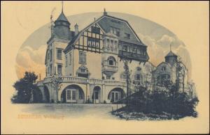 Ansichtskarte Duisburg Wolfsburg, DUISBURG 13.7.1910 nach Breyell