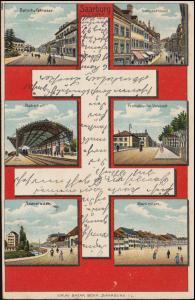 AK Saarburg / Lothringen mit 6 Bildern, 17.10.1905 nach BREYELL 18.10.05