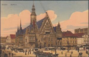 Ansichtskarte Rathaus Breslau, BRESLAU 12 b - 3.7.1910 nach Breyell