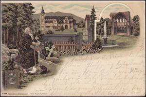 Ansichtskarte Gruss aus Heisterbach, OBERDORF LENDORF 7.9.1898 nach CÖLN 7.9.