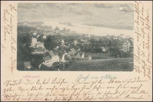 Ansichtskarte Gruss vom Rhein: Rhöndorf 10.7.1899 nach CÖLN 10.7.99