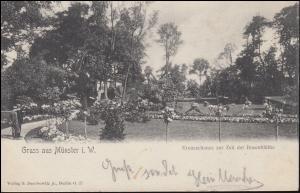 Ansichtskarte Gruss aus MÜNSTER Kreuzschanze zur Zeit der Rosenblüte, 4.5.1905