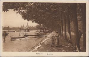 Ansichtskarte Konstanz - Seestraße, 12.8.1922 nach Breyell