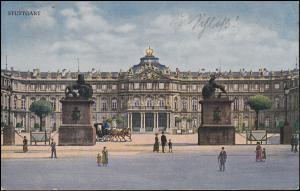 Ansichtskarte Neues Schloss STUTTGART 11.8.1922 nach Breyell