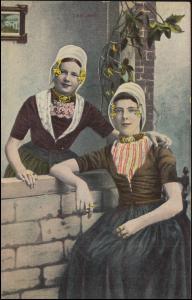 Ansichtskarte Holländische Zeeland-Frauen in ihren Trachten, KEVELAER 1.10.1909