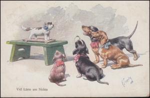 Tier-Künstlerkarte Feiertag Hunde und Katze: Viel Lärm um Nichts, CÖLN 23.9.1923