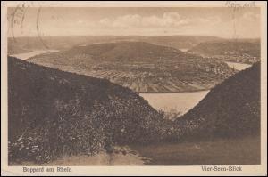 AK Boppard am Rhein Vier-Seen-Blick SSt BOPPARD Perle des Rheins Weinrebe 4.6.25