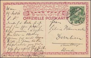 Österreich Privatganzsache Postwertzeichen-Ausstellung Postreiter WIEN 19.9.1911