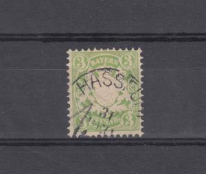Bayern 47 Wappen 3 Pfennig - Stempel 19a Einkreisstempel HASSFURT 31.12.