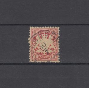 Bayern 39 Wappen 10 Pfennig - Stempel 12a Halbkreisstempel EISENBERG 30.7.