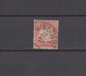 Bayern 39 Wappen 10 Pfennig - Stempel 12a Halbkreisstempel ST. INGBERT 17.7.