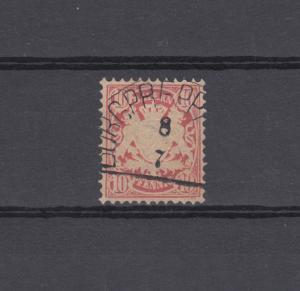Bayern 39 Wappen 10 Pfennig - Stempel 12a Halbkreisstempel BURGPREPPACH 8.7.
