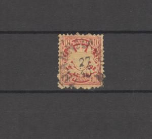 Bayern 39 Wappen 10 Pfennig - Stempel 26a THANNHAUSEN 27.10.