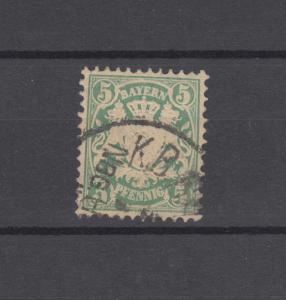 Bayern 38 Wappen 5 Pfennig - Stempel K.B. BAHNPOST NÜRNBERG