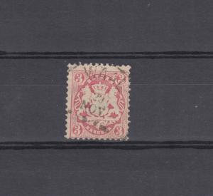 Bayern 33 Wappen 3 Kreuzer - Stempel 20a Einkreisstempel WAAL 29.11.