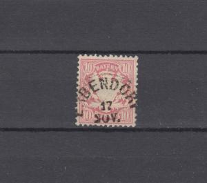 Bayern 39a Wappen 10 Pfennig - Stempel 20a Einkreisstempel ERBENDORF 17.11.