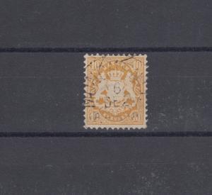 Bayern 35 Wappen 10 Kreuzer - Stempel Einkreisstempel MÜNCHEN 6.12.
