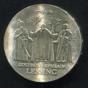 Gedenkmünze Gotthold Epharim Lessing 20 Mark von 1979, vorzügliche Erhaltung