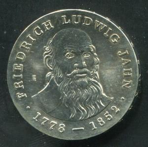 Gedenkmünze Friedrich Ludwig Jahn 5 Mark von 1977, vorzügliche Erhaltung