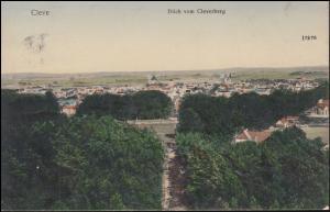 Ansichtskarte Kleve - Blick vom Cleverberg, CLEVE 27.3.1906 nach BREYELL 27.3.06