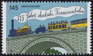 3070 Ferneisenbahn - Type II links UND rechts weißer Rand, **