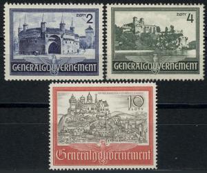 63-65 Bauwerke 1941, Satz komplett ** postfrisch