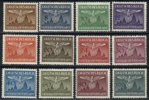 Dienstmarken 25-36 Burg Krakau, Satz komplett ** postfrisch