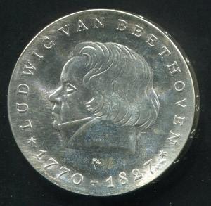 Gedenkmünze Beethoven 10 Mark von 1970, vorzügliche Erhaltung