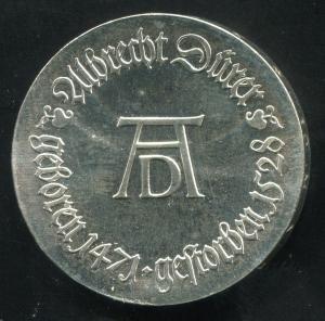 Gedenkmünze Albrecht Dürer 10 Mark von 1971, vorzügliche Erhaltung
