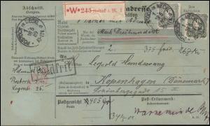 44b Freimarke PFENNIG MeF auf Nachnahme-Paketkarte ROSTOCK 18.5.89, BPP-geprüft
