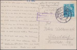 Landpost-Stempel Morgenröthe-Rautenkranz auf passender AK, OELSNITZ 6.9.1956