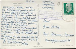 Landpost-Stempel Geisenhain über STADTRODA 27.8.62 auf AK Löfflerturm / Kahla