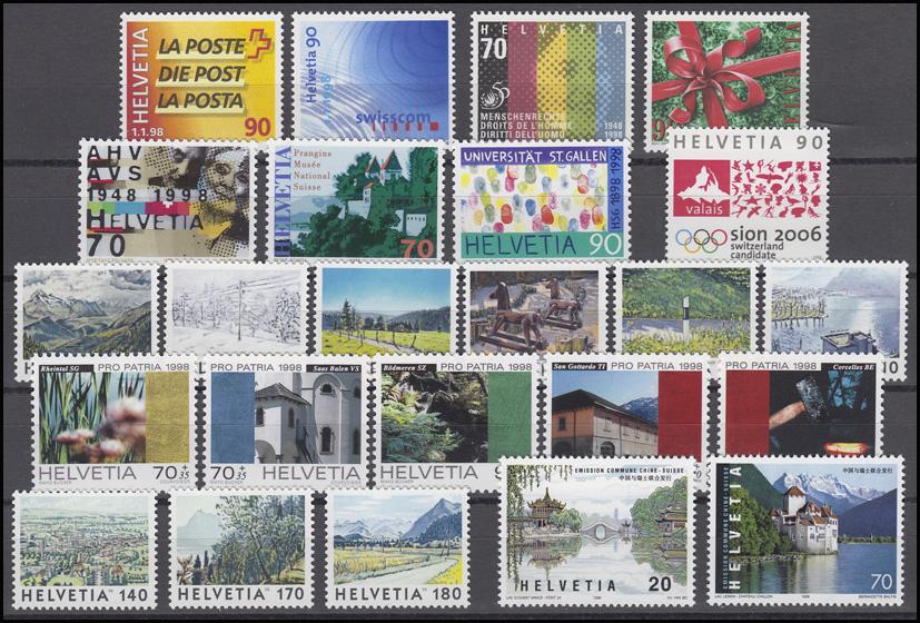 1633-1671 Schweiz-Jahrgang 1998 komplett, postfrisch 0