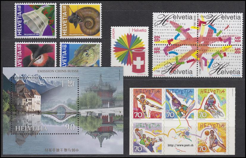 1633-1671 Schweiz-Jahrgang 1998 komplett, postfrisch 1