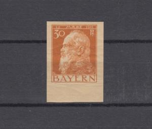 81IIU Luitpold 30 Pfennig - ungezähnt, ** postfrisch, signiert