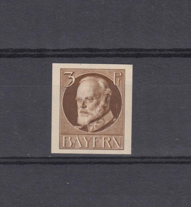 94I Ludwig 3 Pfennig - ungezähnt, ** postfrisch 0