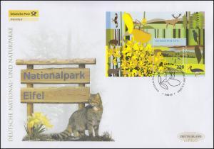 Block 74 Nationalpark Eifel, Block auf Schmuck-FDC Deutschland exklusiv