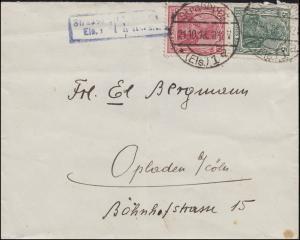 Zensur ... P. K. Geprüft und zu befördern Brief Germania-MiF Straßbourg 21.10.18