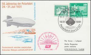 PP 15/128 Polarfahrt Luftschiff Zeppelin LZ 127 SSt BERLIN 24.7.1981