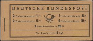 4Xv Heuss 1959 - Deckel dunkelchromgelb, RLV: II, ** Deckelmangel rechts unten