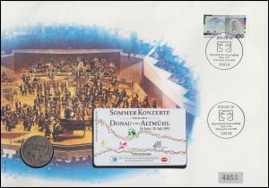 Numisbrief Funkausstellung / Jahr der Musik / Telefonkarte ESSt BERLIN 12.8.93