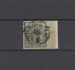 Hannover 2 Freimarke 1 Ggr. rechtes Randstück mit Reihenzähler 2, Briefstück