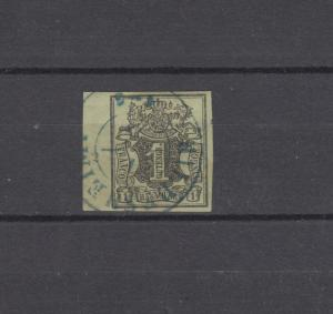 Hannover 2 Freimarke 1 Ggr. linkes Randstück mit Reihenzähler 2, HILDESHEIM